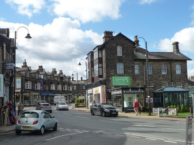 Shops on Leeds Road [the A65], Ilkley