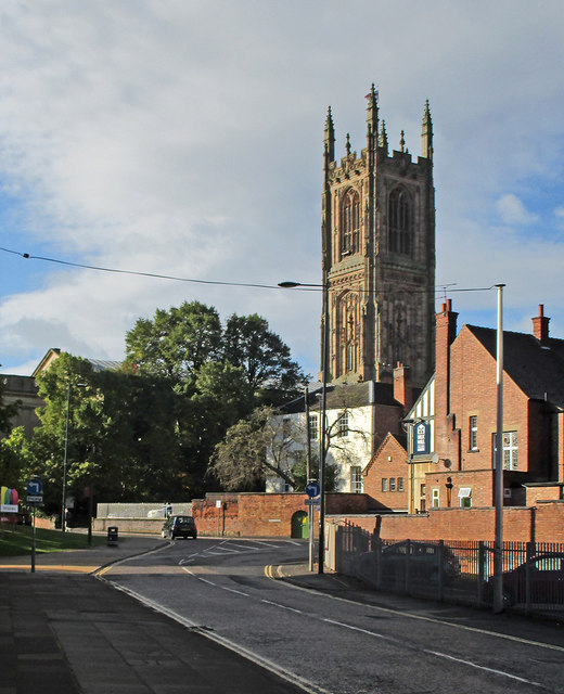 Sowter Road and Derby Cathedral tower