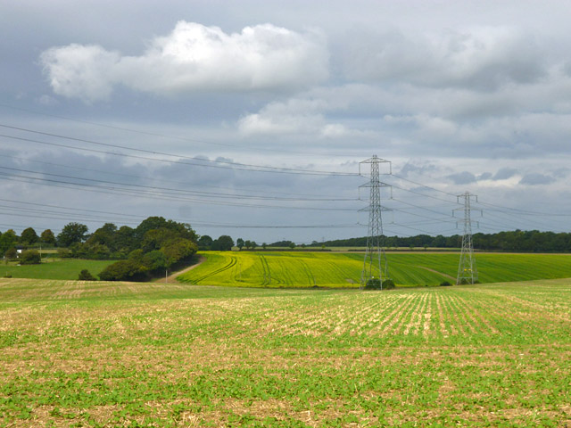 Fields and power lines