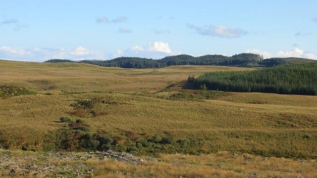 Moorland near Lower Carron
