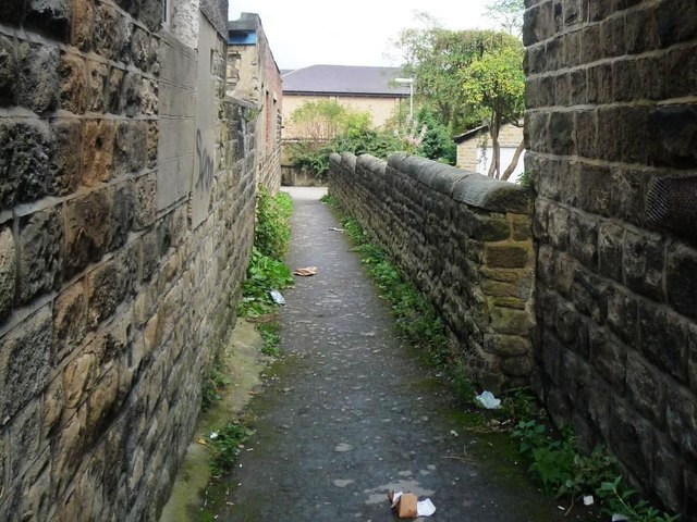 Public footpath, east side, Victoria Road