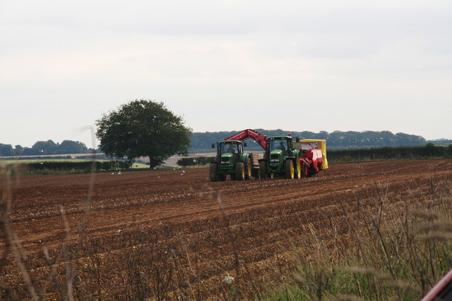 Matching tractors behind Rothwell Stockgarth