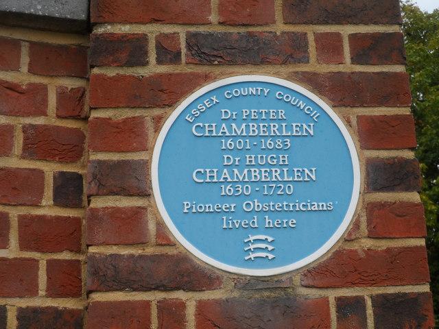 Blue plaque on Woodham Mortimer Hall