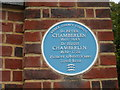 Photo of Peter Chamberlen and Hugh Chamberlen blue plaque
