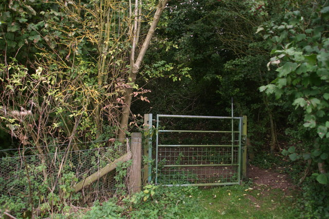 Bridle gate into Badger Hills