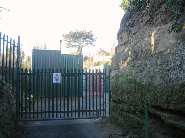Secure storage facility, former quarry off Wharf Street, Warwick