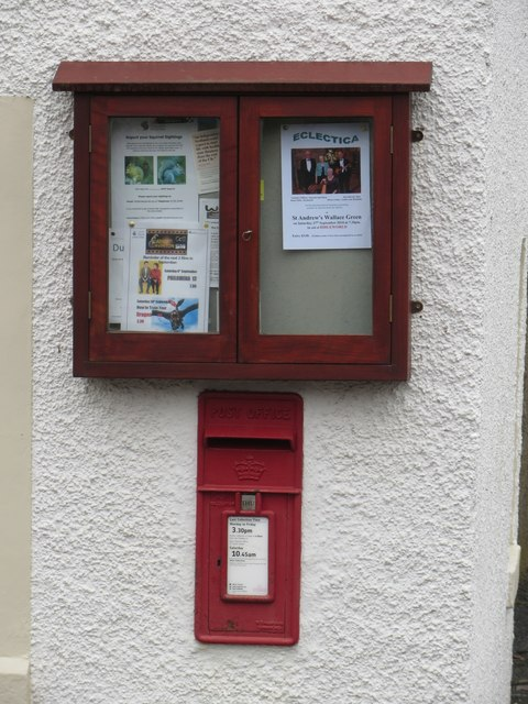 Postbox and noticeboard, Gavinton