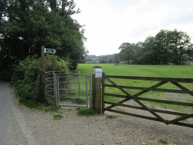 The beginning of the footpath to Colyton