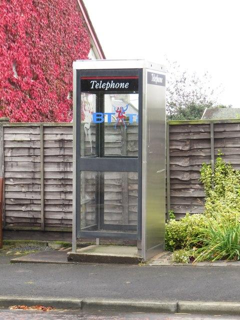 Public telephone box, Gavinton
