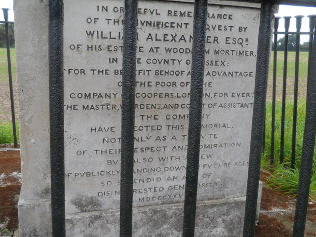 Inscription on Obelisk at Woodham Mortimer
