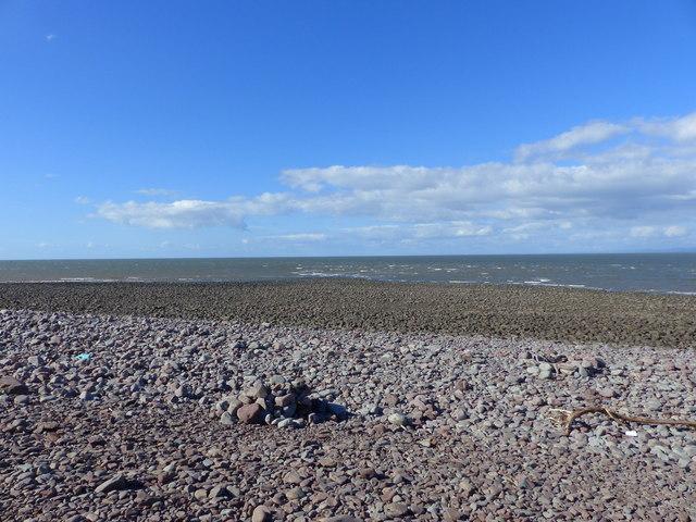 Gore Point approaching low tide, Porlock Weir