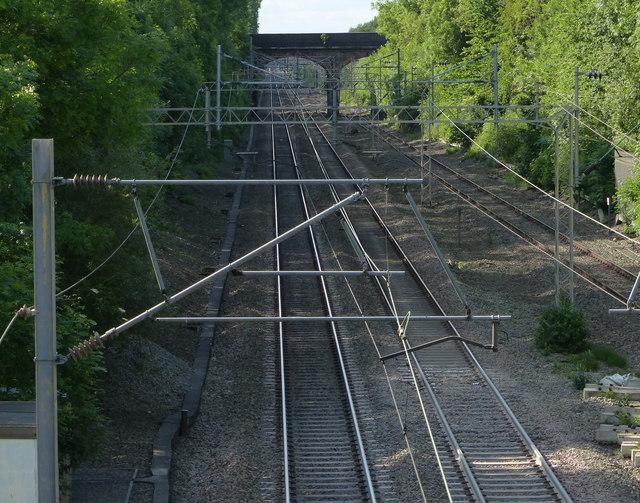 West Coast Main Line in Shilton