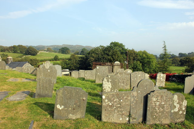 The churchyard of St.Mackreth Church, Llanfachreth