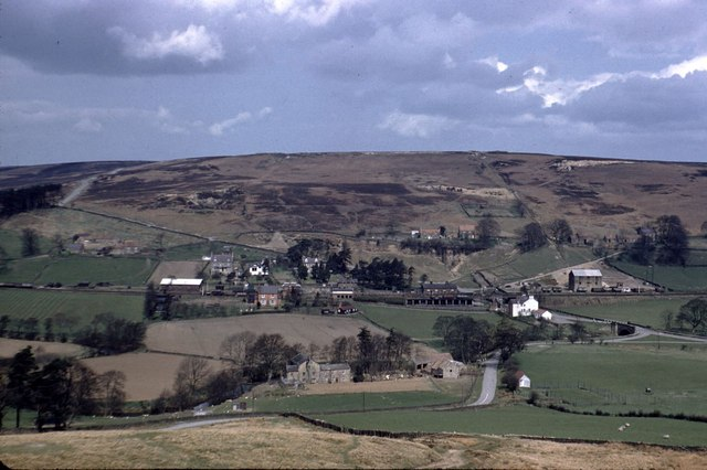 Castleton Station from across the valley in 1958