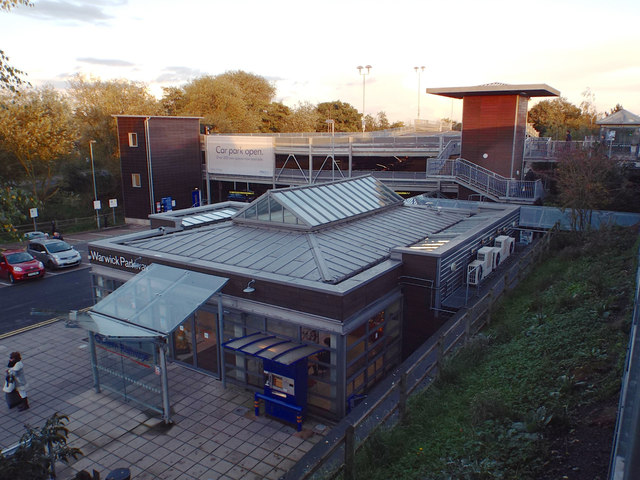 Booking Hall and new multistorey car park, Warwick Parkway railway station