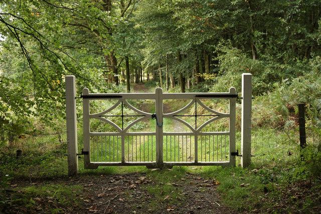 Elegant barrier at Penninghame