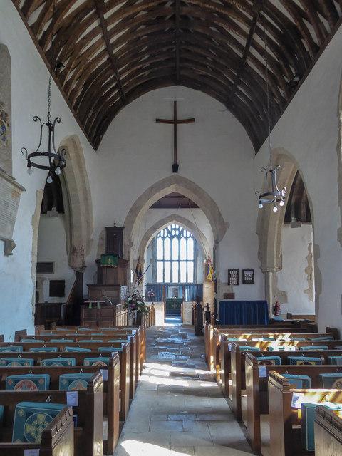 Aisle, St Winifred's Church, Branscombe, Devon