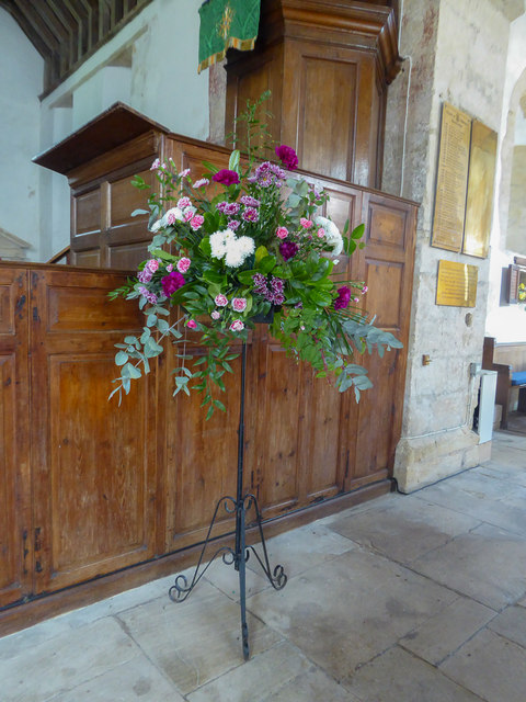 Floral Display, St Winifred's Church, Branscombe, Devon