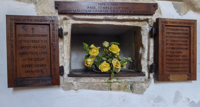 War Memorial, St Winifred's Church, Branscombe, Devon