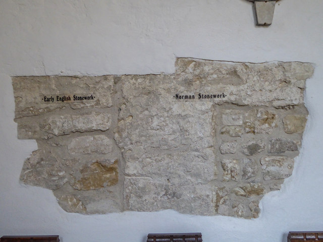 Ancient Stonework, St Winifred's Church, Branscombe, Devon