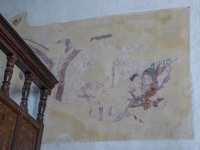 15th Century Mural, St Winifred's Church, Branscombe, Devon