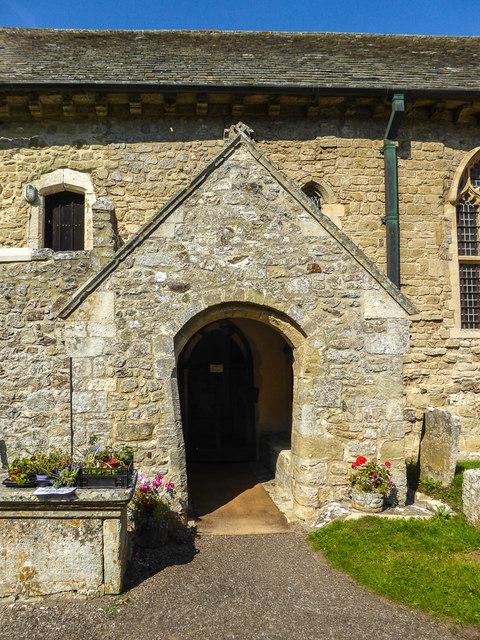 Entrance to St Winifred's Church, Branscombe, Devon
