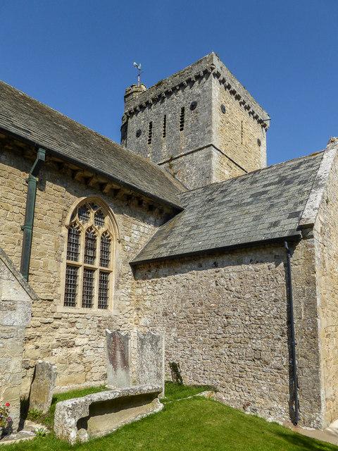 Tower of St Winifred's Church, Branscombe, Devon