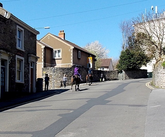 Riding up Chapel Hill, Clevedon