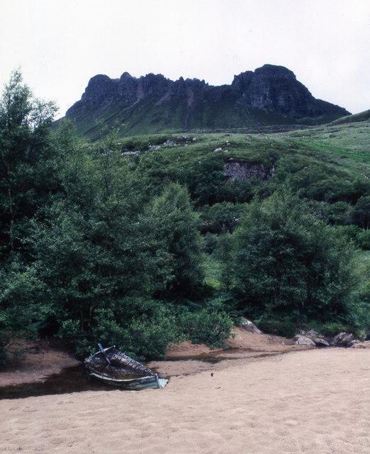 Slopes of Stac Pollaidh from Loch Lurgainn