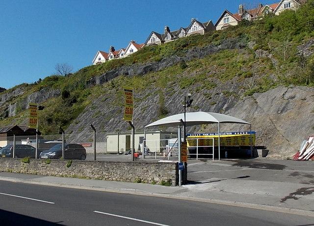 Cliffside car wash in Clevedon