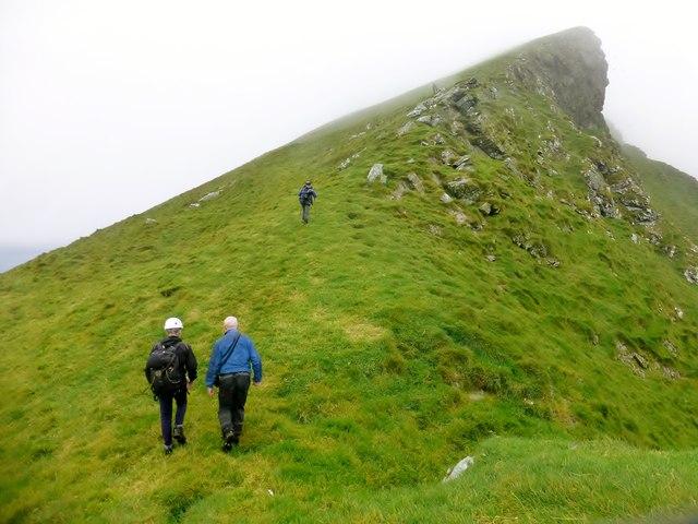 Approaching The Summit Of Boreray