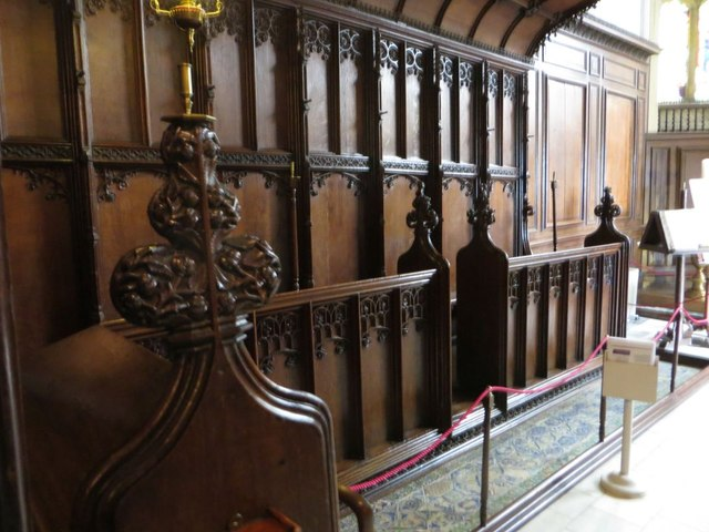 Choir stalls in the Chapel