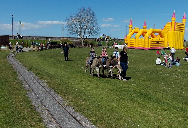 Donkey rides and a bouncy castle in Clevedon