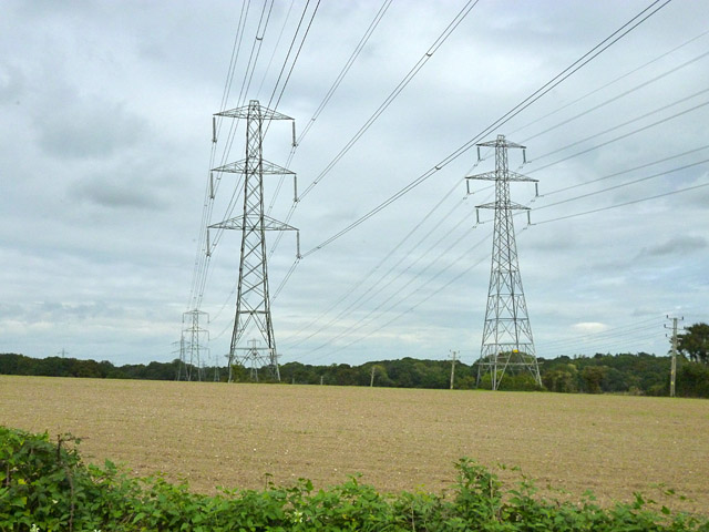 Power lines south of Fleet substation