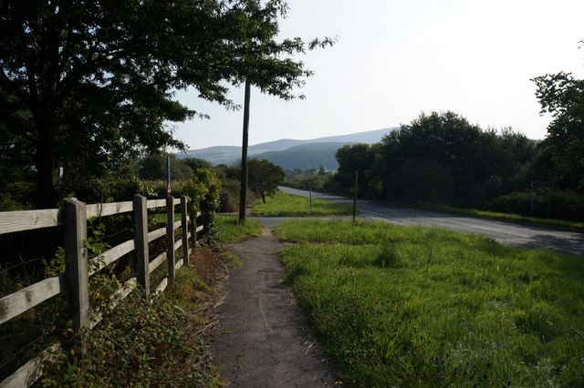 Minor road leading to the A55