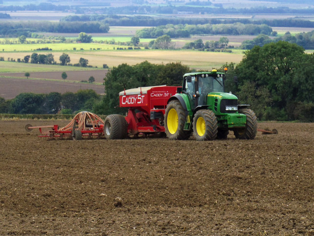 Seed Drilling near Bonby