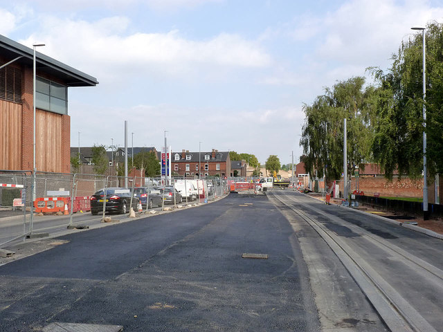 Middle Street, looking north-east from Station Street