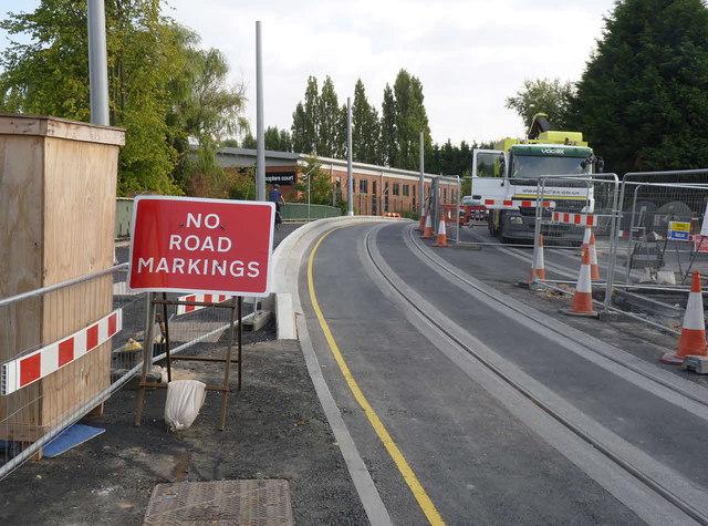 No road markings