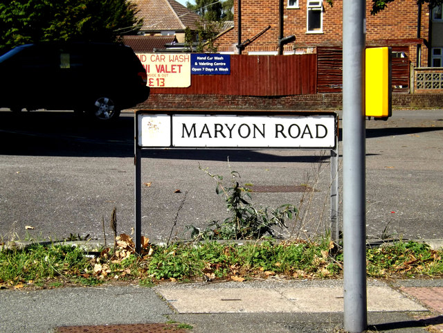 Maryon Road sign