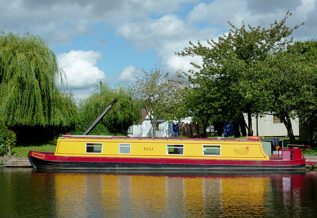 Narrowboat for hire at Gailey Wharf, Staffordshire