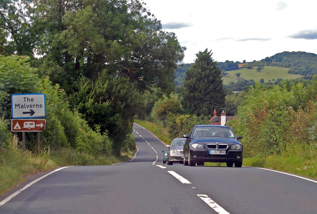A417 approaching junction to The Malverns