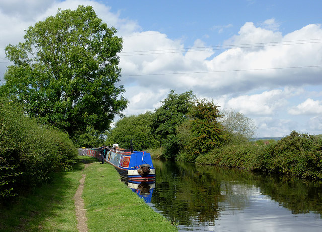 Staffordshire and Worcestershire Canal at Gailey, Staffordshire