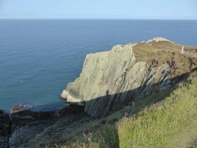 Sea cliff below the Coastal Path