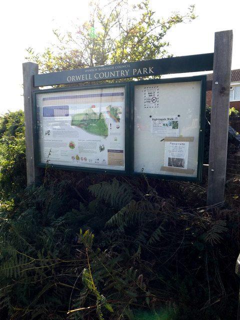 Orwell Country Park sign
