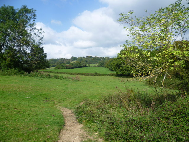 View from Greensand Way near Dale Farm