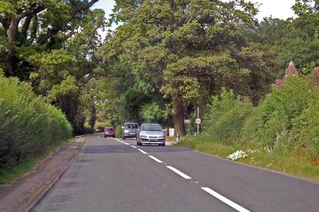 A417 towards Hartpury