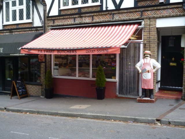 Chipstead:  P.A. Ewart, family butchers, Station Approach