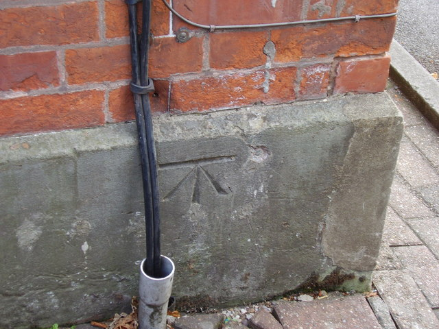 Benchmark in Lichfield Road