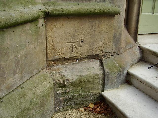 Benchmark on St Bartholomew's Church