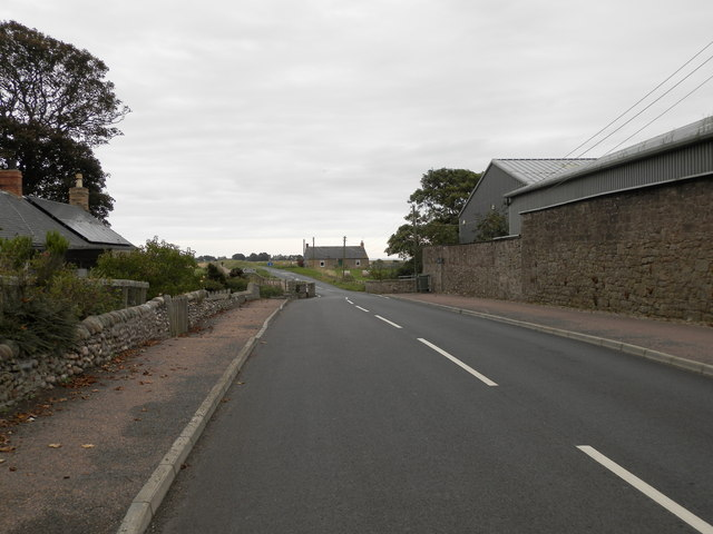 Unclassified road towards Easthaven